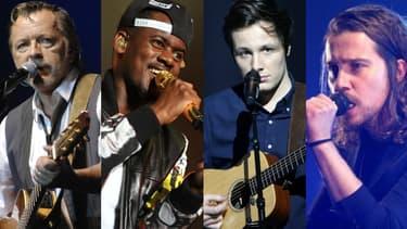 Renaud, Black M, Vianney et Julien Doré
