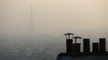 Paris en mars 2014 lors des pics de pollution.