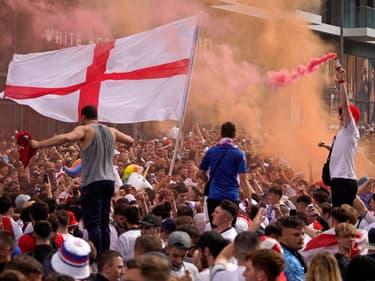 L'extérieur de Wembley avant Angleterre-Italie le 11 juillet