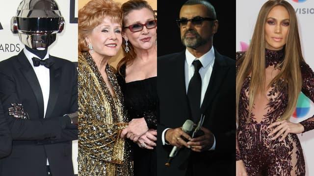 La semaine a notamment été marquée par les morts de Carrie Fisher, Debbie Reynolds et George Michael.