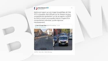 Un policier a été pris en photo sur Google Maps en train de faire deux doigts d'honneur à Roubaix.