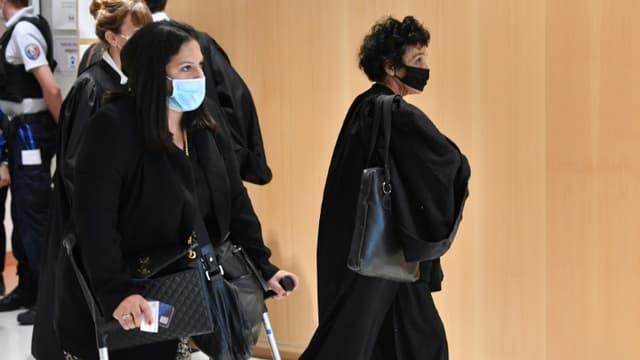 L'avocate d'Ali Riza Polat, Isabelle Coutant-Peyre (d), à son arrivée au palais de Justice de Paris, le 2 septembre 2020 (Photo d'illustration)