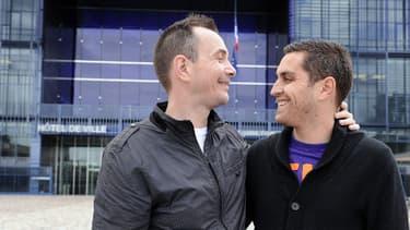 """Vincent et Bruno ont été les premiers Français à se dire """"oui"""", le 28 mai 2013 à Montpellier."""