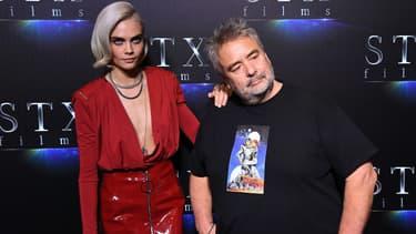 Luc Besson et Cara Delevingne à Las Vegas en 2017