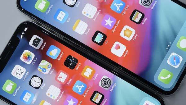 Les écrans des iPhone XS et XS Max