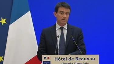 Manuel Valls, au ministère de l'Intérieur, le 30 mars 2014.
