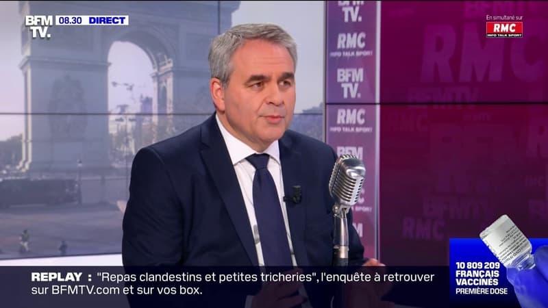 Xavier Bertrand indique que le taux d'incidence baisse dans les Hauts-de-France