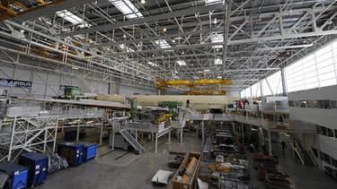 L'usine Airbus à Colomiers.