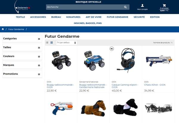 Boutique en ligne de la Gendarmerie nationale