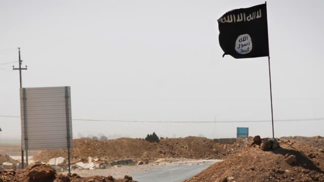 La bannière noire de Daesh (photo d'illustration).