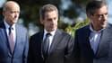 Alain Juppé, Nicolas Sarkozy et François Fillon à La Baule le 5 septembre 2015
