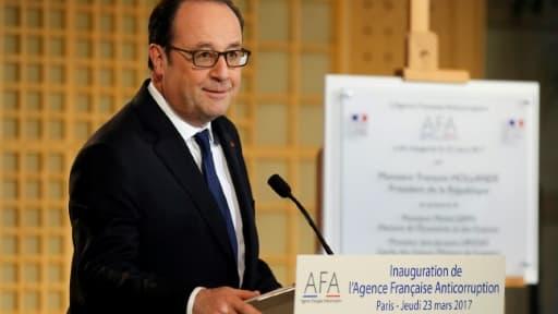 François Hollande inaugure l'Agence Française Anticorruption à Bercy, le 23 mars 2017