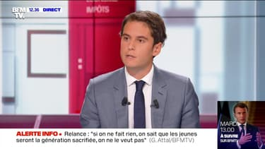 """""""430 milliards d'euros ont été dépensés pour faire face à la crise et relancer le pays"""", Gabriel Attal - 12/07"""