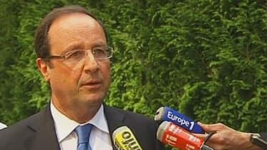 François Hollande était ce jeudi à Marly le Roi, sur le site de la société IX Blue.