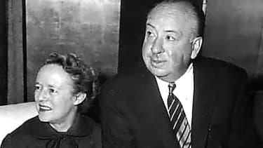 Alfred Hitchcock et sa femme, Emma, en novembre 1955.