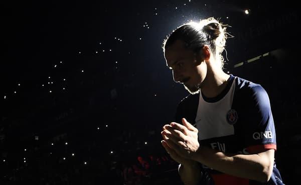 Zlatan Ibrahimovic sous le maillot du PSG en mai 2014