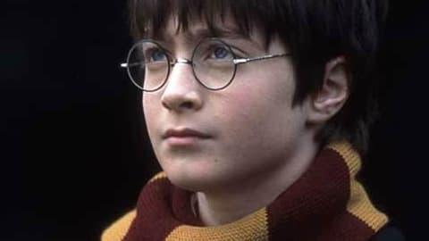 Daniel Radcliffe dans Harry Potter à l'école des sorciers, en 2001.