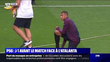 PSG: J-1 avant la rencontre face à l'Atalanta Bergame en Ligue des Champions