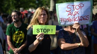Une manifestation contre les violences conjugales à Paris, le 6 juillet 2019