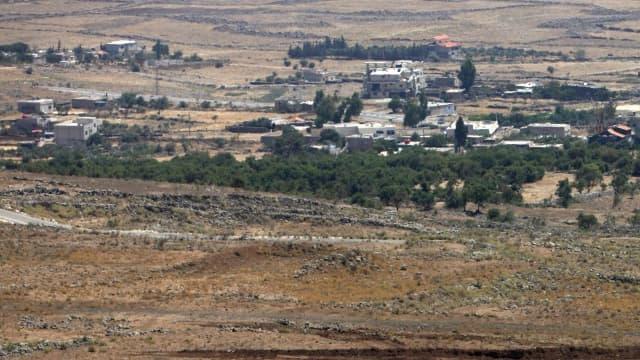 Vue d'une partie du secteur du plateau du Golan occupé par les Israéliens.