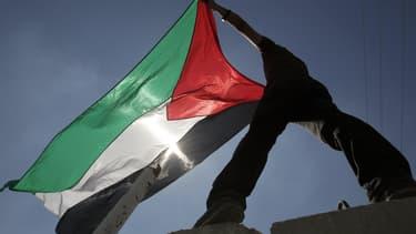 Un drapeau palestinien à Gaza, en 2011.