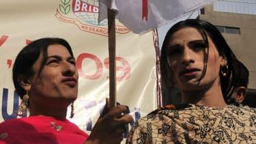 Manifestation LGBT à Karachi, au Pakistan, en 2009