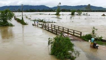 Inondations dans la province de Nghe An, le 12 octobre 2017 au Vietnam