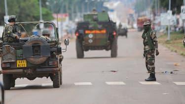 Des soldats français dans les rues de Bangui, le 6 décembre.