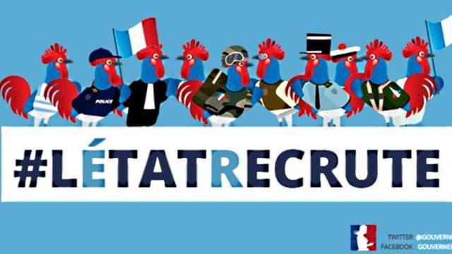 """L'image choisie par le gouvernement pour illustrer l'opération """"l'Etat recrute"""" a bien fait rire les internautes."""
