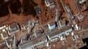 Vue satellite de la centrale atomique endommagée de Fukushima Daiichi. Les ingénieurs japonais ont rétabli lundi l'électricité dans trois des six réacteurs dont ils comptent tester rapidement les systèmes de refroidissement. /Image diffusée le 18 mars 201