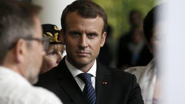 Emmanuel Macron à l'inauguration de l'Institut des mathématiques à Orsay, le 25 octobre 2017.
