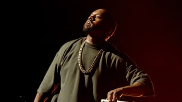 Kanye West lors d'un concert à Las Vegas en septembre 2015.