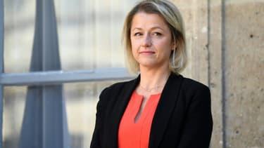 Barbara Pompili, ministre de la Transition écologique, lors de la passation des pouvoirs le 7 juillet 2020