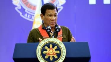 Le président philippin Rodrigo Duterte à Davao, aux Philippines, le 19 mai 2017