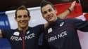 Kévin Menaldo, à droite, a décroché le bronze et offert avec Renaud Lavillenie, en or, deux nouvelles médailles à la France