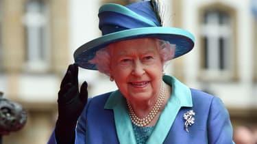 Elizabeth II en visite à Francfort en juin 2015