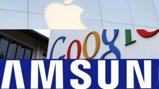 Les trois entreprises leader de l'innovation : Apple, Google et Samsung