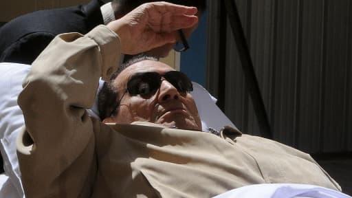 L'ancien président égyptien Hosni Moubarak, lors de son premier procès en juin 2012.