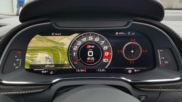 Le virtual cockpit de la nouvelle R8 prêt à afficher les G encaissés sur circuit!