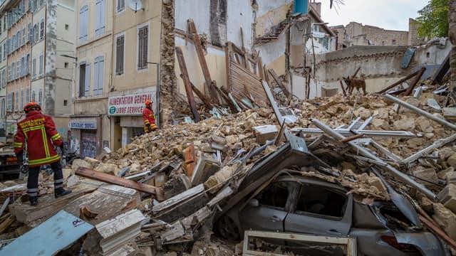 Plusieurs immeubles vétustes se sont effondrés à Marseille.