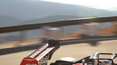 Romain Dumas décroche sa deuxième victoire à Pikes Peak, encore une fois au volant de la Norma M20 RD.