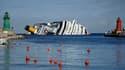 Le Costa Concordia s'était échoué en janvier dernier.