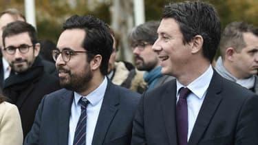 Les deux rivaux Mounir Mahjoubi et Benjamin Griveaux face au Premier ministre Edouard Philippe en novembre 2017. (Photo d'illustration)