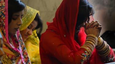 Des chrétiennes pakistanaises, le 1er janvier 2014, à Lahore. (photo d'illustration)