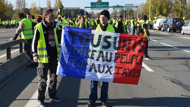 Des gilets jaunes manifestant à Bordeaux, lors de leur première journée de mobilisation le 17 novembre 2018