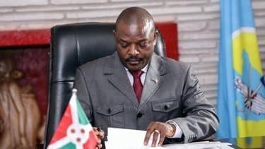 Pierre Nkurunziza, président du Burundi en juin 2018 à Gitega.