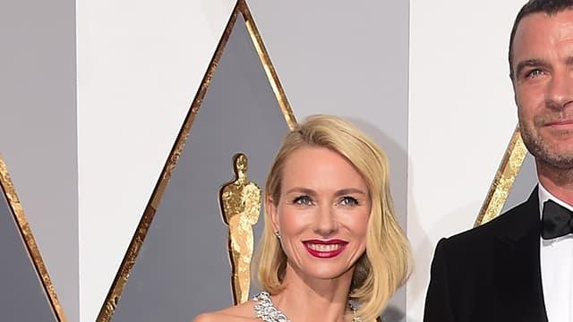 Naomi Watts et Liev Schreiber le 28 février 2016