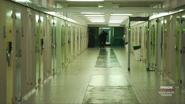 Les couloirs de la maison centrale de Saint-Maur (Indre).