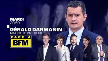 "Gérald Darmanin est ""face à BFM"" le mardi 20 octobre 2020"