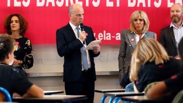 Leila Slimani, Jean-Michel Blanquer et Brigitte Macron.